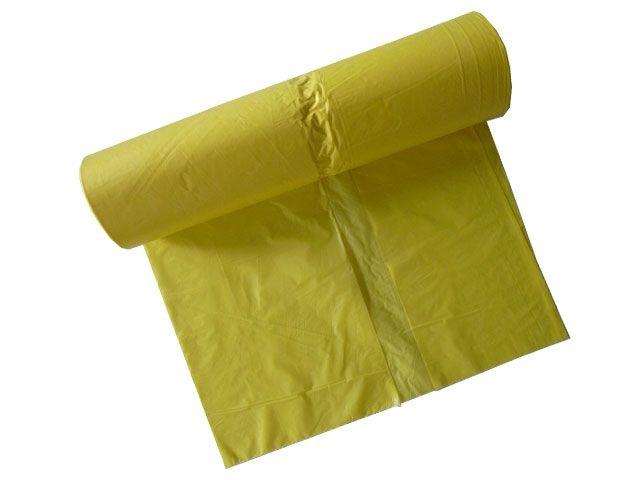 Müllsäcke - Müllbeutel aus HDPE, gelb - 120 L - 700x1100 mm Typ 20 - 16my