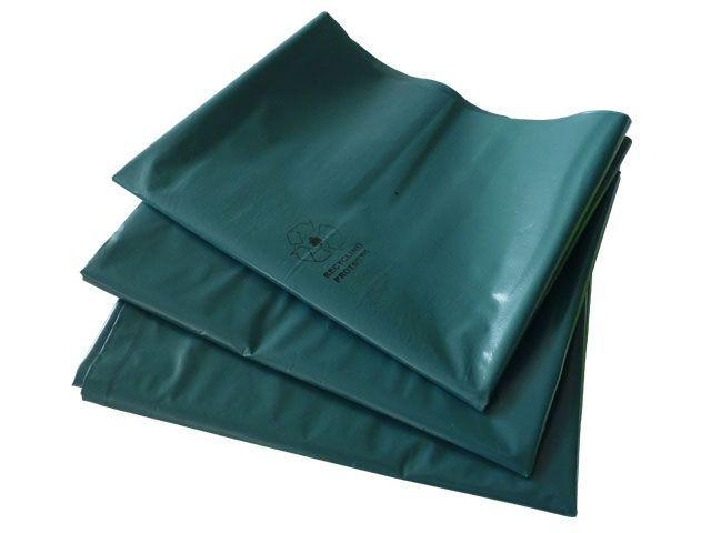 Müllsäcke aus LDPE, blau - für Großbehälter - 180 L - 500+450x1250 mm, Typ 100 - 80my
