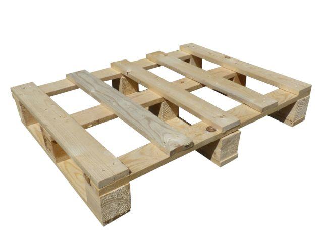 Holzeinwegpaletten - 600x800 mm - IPPC - behandelt - 5 Deckbretter + 9 Klötze