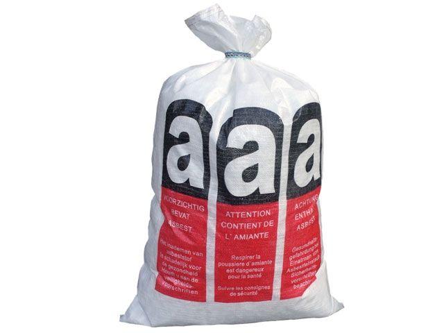 PP-Bändchengewebesäcke für Asbestentsorgung, weiß - 70x110 cm - mit Verschlussband