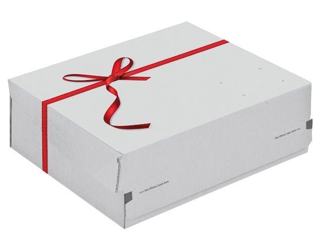 ColomPac® Exclusiv Geschenkbox, weiß - 363x280x125 mm - ColomPac CP 068.96/02