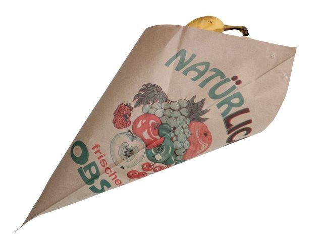Obstspitztüten aus Natronmischpapier - 34 cm - 60 g/m²