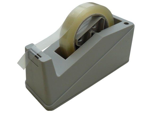 Tischabroller Klebeband für max. 19 - 25 mm Bandbreite, grau