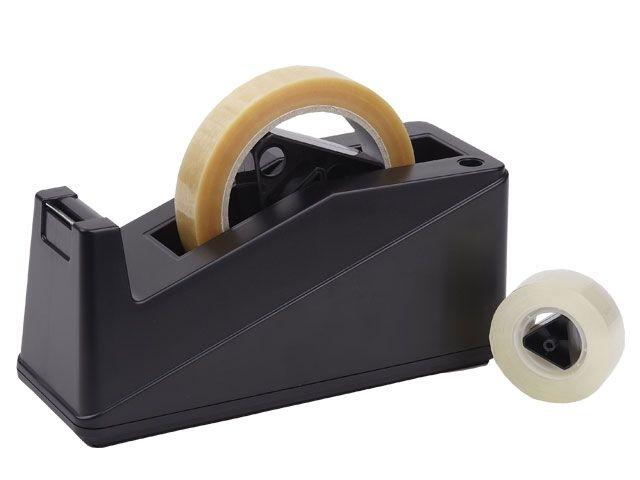 Tischabroller Klebeband MAXI für max. 9 - 25 mm Bandbreite, schwarz