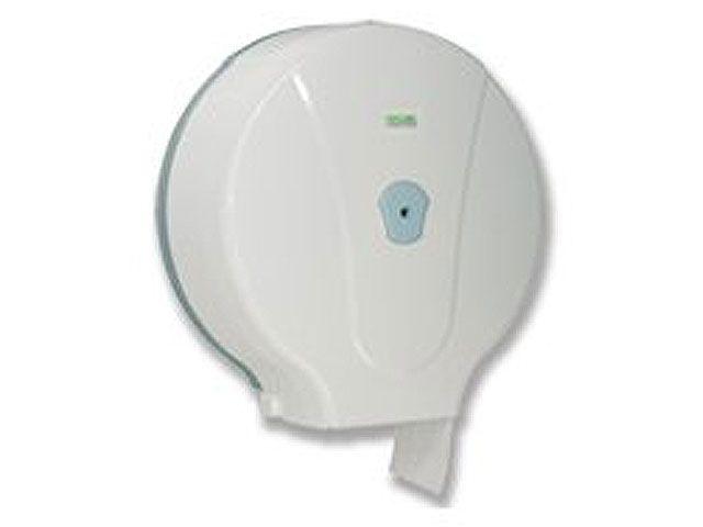 Spender für Toilettenpapier, weiß - für Jumborollen - für Rollen bis 28 cm