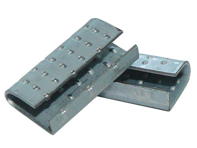 Verschlusshülsen für Umreifungsband aus PP, geriffelt 16x30x1,0 mm - für Orgapack Einhebelspanner
