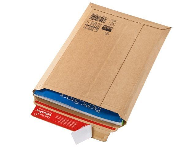 extrem starke Versandtaschen aus Wellpappe, weiß - 235x340x35 mm - ColomPac CP 010.54