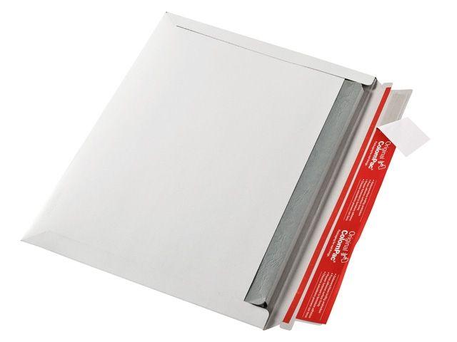 Versandtasche aus Vollpappe, weiß - Querbefüllung - 322x227x30 mm - ColomPac CP 017.03