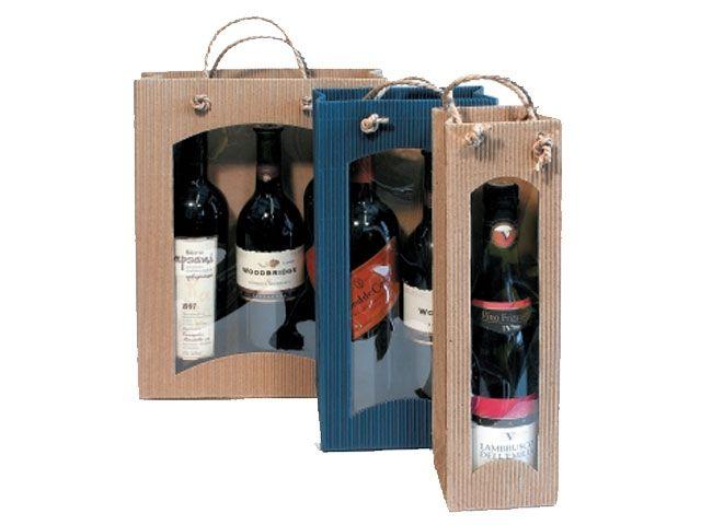 flaschenbeutel f r 2 weinflaschen braun mit. Black Bedroom Furniture Sets. Home Design Ideas
