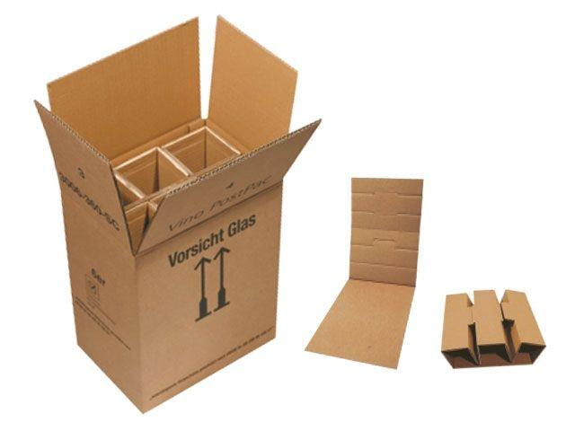 flaschenverpackung f r 3 flaschen 297x102x383 mit ptz zulassungen verpackungsmaterial. Black Bedroom Furniture Sets. Home Design Ideas