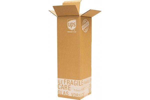 Flaschenverpackung - für 1 Flasche - 105x105x360 mm - mit PTZ-Zulassungen