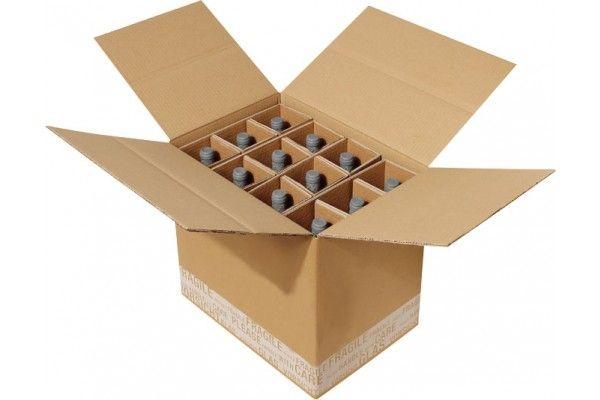 flaschenverpackung f r 12 flaschen 430x305x360 mm mit ptz zulassungen. Black Bedroom Furniture Sets. Home Design Ideas