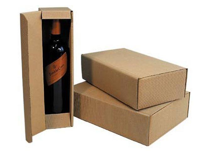 geschenkkarton braun f r 2 flaschen 188x94x361 mm. Black Bedroom Furniture Sets. Home Design Ideas