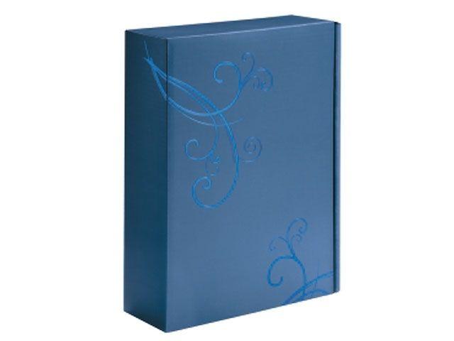 geschenkkarton azurblau f r 3 flaschen 362x250x95 mm motiv magie verpackungsmaterial. Black Bedroom Furniture Sets. Home Design Ideas