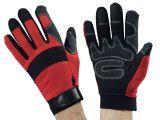 Ulith- Mechaniker-Handschuhe, rot - Größe 10