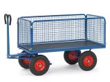 Fetra Handpritschenwagen - mit Luftbereifung - 1550x850x1200 mm - bis 1000 kg