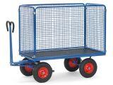 Fetra Handpritschenwagen - mit Vollgummireifen - 1550x850x1415 mm - bis 700 kg