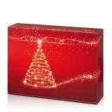 Geschenkkarton, Christmas Tree - für 3 Weinflaschen - 360x250x90 mm