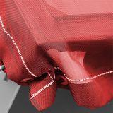 stabile luftdurchlässige Gewebeplane, rot - 3,1x5,0m - 200g/m² mit Ösen - mit Gummiseil
