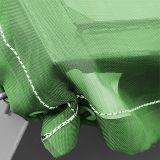 stabile luftdurchlässige Gewebeplane, grün - 3,1x7,0m - 200g/m² mit Ösen - mit Gummiseil