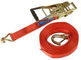 Zurrgurte, rot - 2-teilig - 50 mm x 8.000 mm - 5.000 daN - mit Ergo-Ratsche